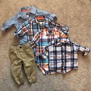 Bundle of baby boy dress clothes 6-12 mo